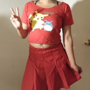 Red Pikachu outfit